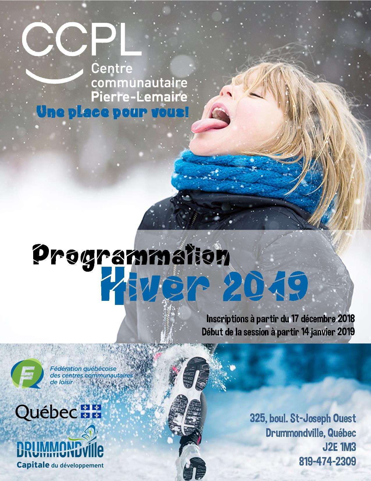 Programmation hiver 2019