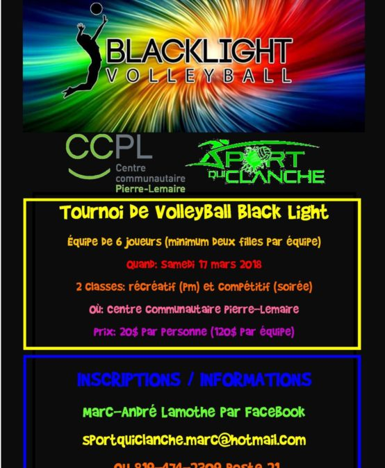 Tournoi de volleyball blacklight